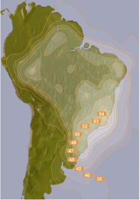 Pisada de Satelite Amazonas 61w
